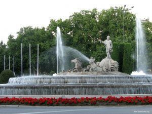 beautiful Madrid fountains