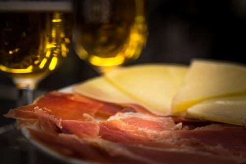 Spanish ham and Manchego cheese